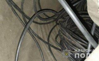 В Каменском задержали кабельных воров - ФОТО