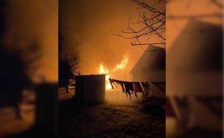 На Днепропетровщине загорелась баня - ФОТО