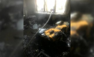 В Каменском на Соцгороде загорелась квартира - ФОТО
