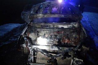 На Днепропетровщинево время движения загорелась Toyota Rav (фото) - ФОТО