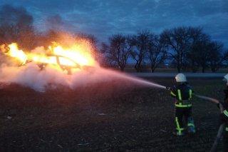 На Днепропетровщинево время движения загорелась Toyota Rav - ФОТО