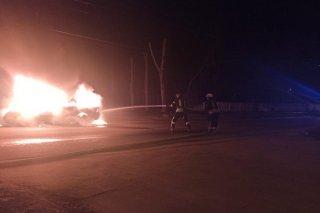 На Днепропетровщине сгорел автомобиль Opel (фото) - ФОТО