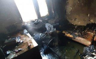 В Каменском горела квартира - ФОТО