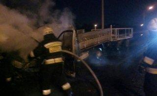 В Днепре во время движения загорелась ГАЗель - ФОТО