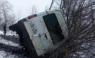 На Днепропетровщине перевернулся междугородний автобус - ФОТО