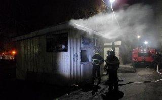 В Каменском районе загорелся магазин - ФОТО