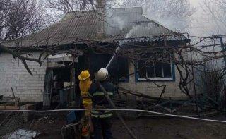 Под Каменским сгорел дом, погиб хозяин - ФОТО