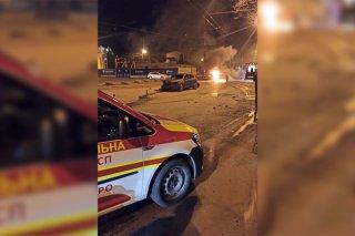 Жесткое ДТП в Днепре: BMW загорелся от удара с Mazda (фото) - ФОТО