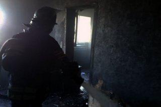 Под Каменским во время пожара погиб мужчина - ФОТО