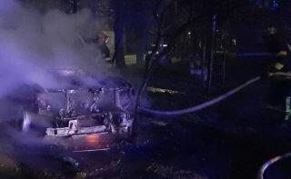 На Днепропетровщине сгорел автомобиль - ФОТО