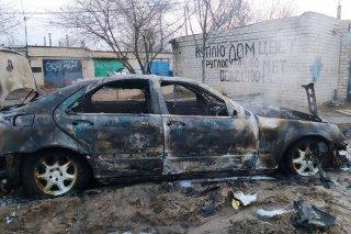 В Каменском районе сгорел автомобиль Mercedes-Benz - ФОТО