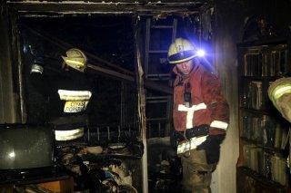В Днепре в многоэтажке загорелся балкон - ФОТО