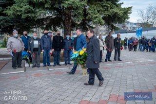 В Каменском возложили цветы к памятнику «Чернобыль – вечная боль Украины» - ФОТО