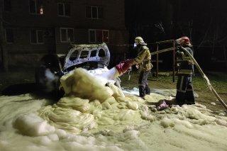 Под Каменским спасатели тушили Hyundai (фото) - ФОТО