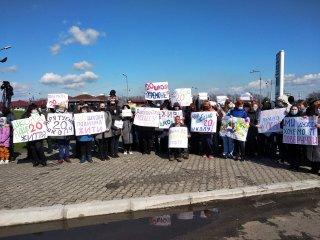 Мітинг на трасі під Камянським (відео) - ФОТО