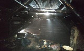 В Каменском загорелась летняя кухня (фото) - ФОТО