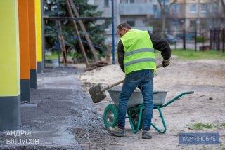 На левобережье Каменского продолжается реконструкция детского садика «Соняшник» - ФОТО