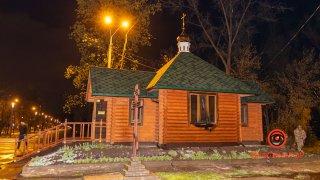 В Днепре горела деревянная часовня храма - ФОТО